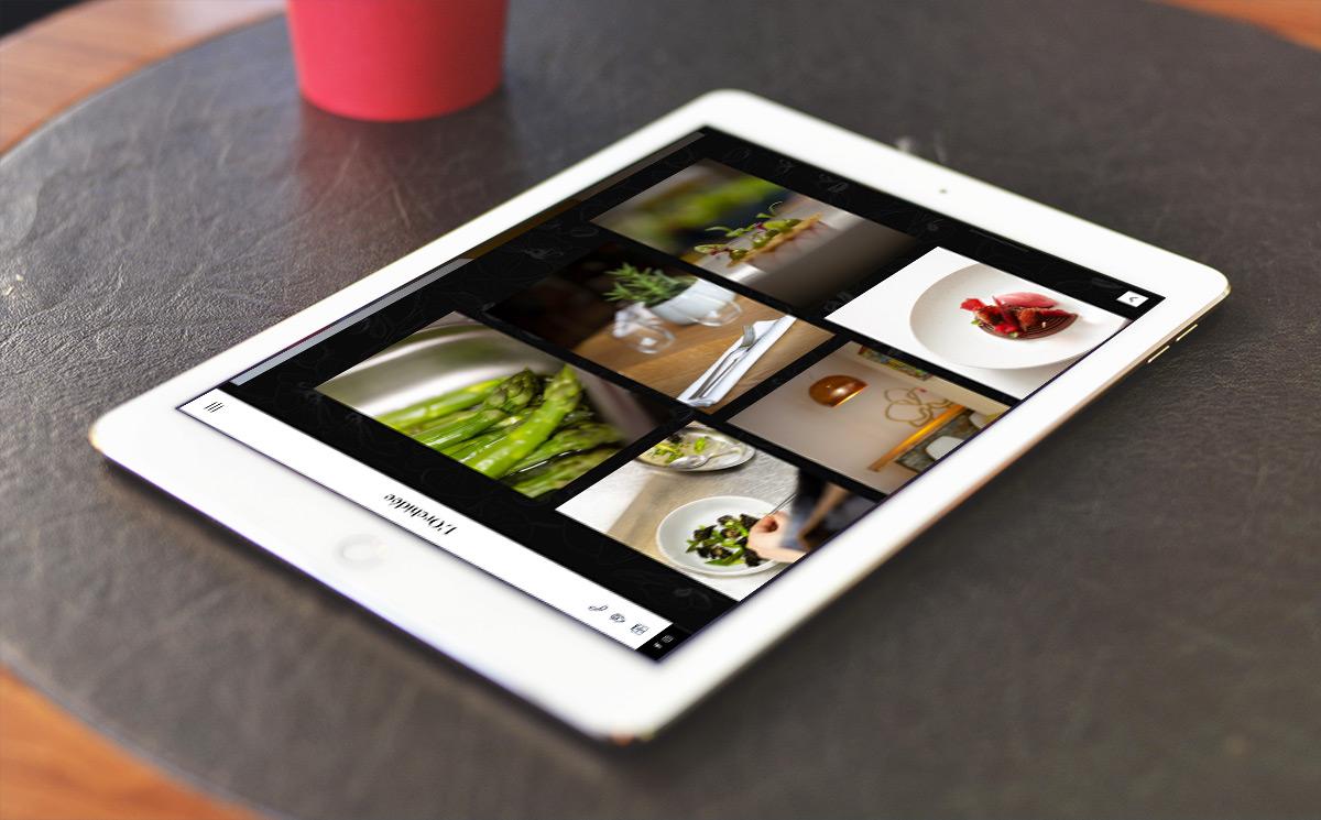Site web l'Orchidée sur iPad