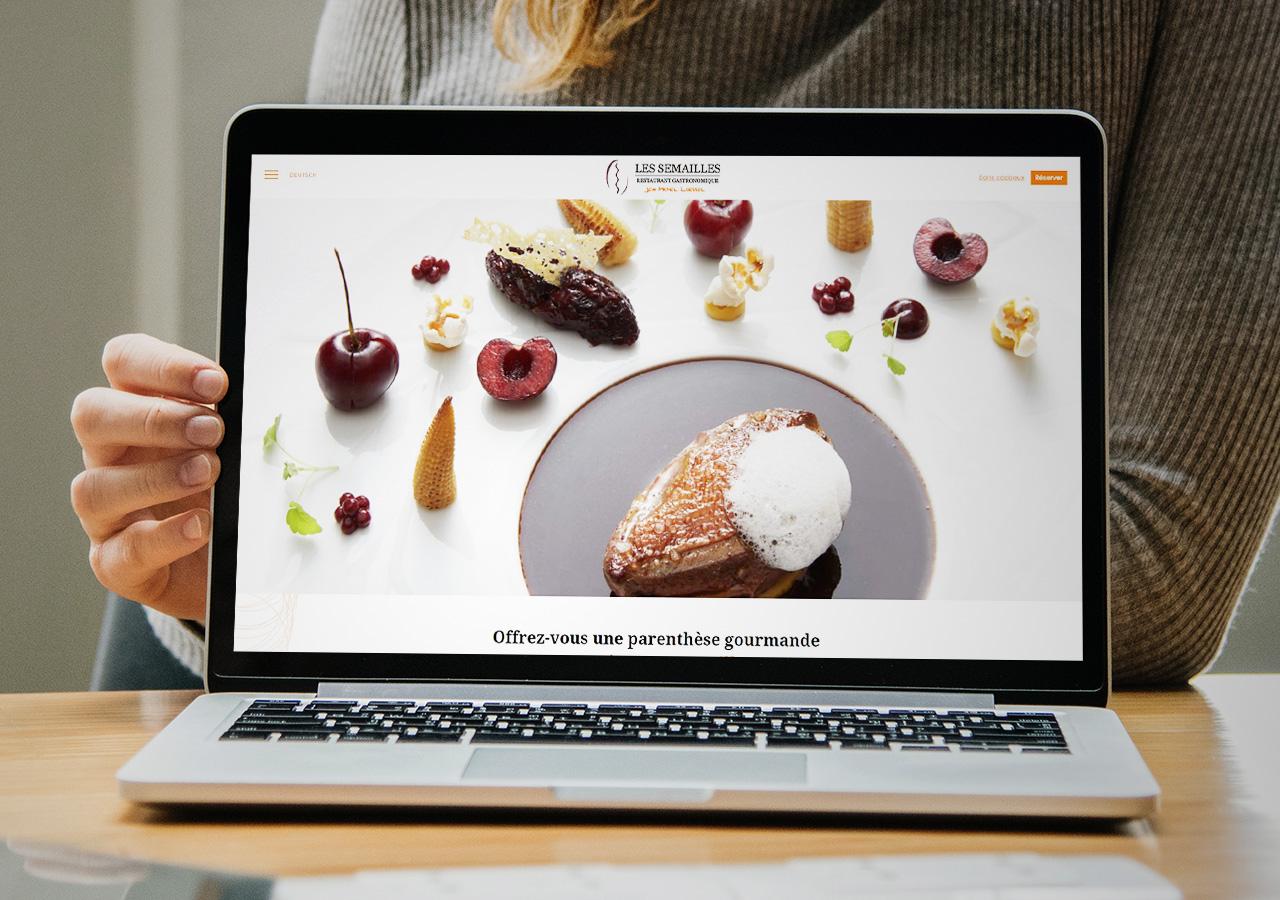Site web restaurant les semailles
