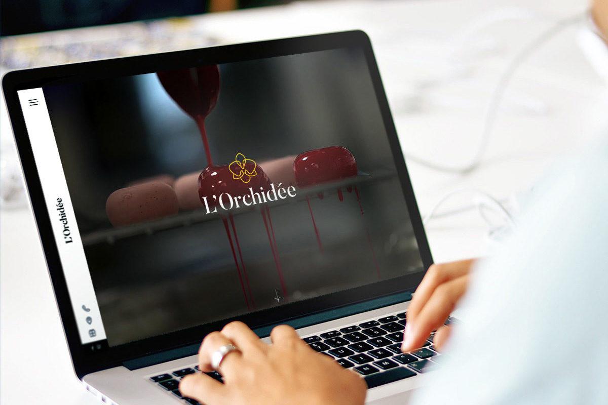 Site web responsive restaurant l'orchidée